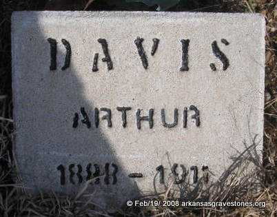 DAVIS, ARTHUR - Scott County, Arkansas | ARTHUR DAVIS - Arkansas Gravestone Photos