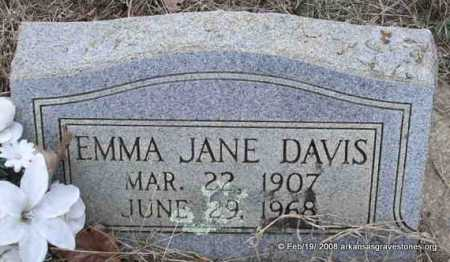 DAVIS, EMMA JANE - Scott County, Arkansas   EMMA JANE DAVIS - Arkansas Gravestone Photos