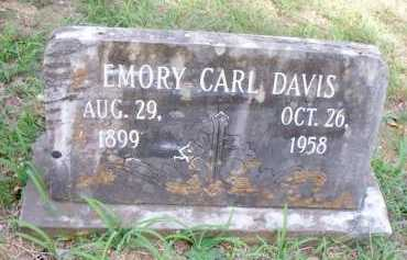 DAVIS, EMORY CARL - Scott County, Arkansas | EMORY CARL DAVIS - Arkansas Gravestone Photos