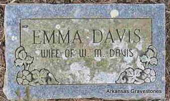 DAVIS, EMMA - Scott County, Arkansas | EMMA DAVIS - Arkansas Gravestone Photos