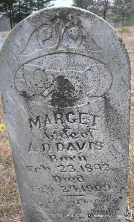 DAVIS, MARGET - Scott County, Arkansas | MARGET DAVIS - Arkansas Gravestone Photos