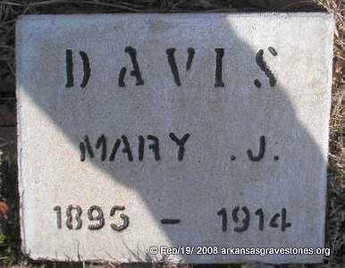 DAVIS, MARY J - Scott County, Arkansas | MARY J DAVIS - Arkansas Gravestone Photos