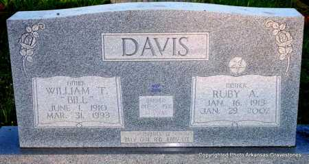 "DAVIS, WILLIAM T   ""BILL"" - Scott County, Arkansas   WILLIAM T   ""BILL"" DAVIS - Arkansas Gravestone Photos"