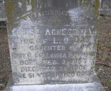 DAY, LOUISA AGNESS - Scott County, Arkansas | LOUISA AGNESS DAY - Arkansas Gravestone Photos