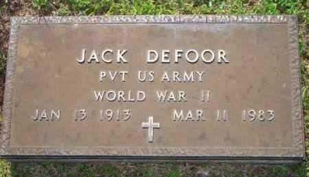 DE FOOR  (VETERAN WWII), JACK - Scott County, Arkansas | JACK DE FOOR  (VETERAN WWII) - Arkansas Gravestone Photos