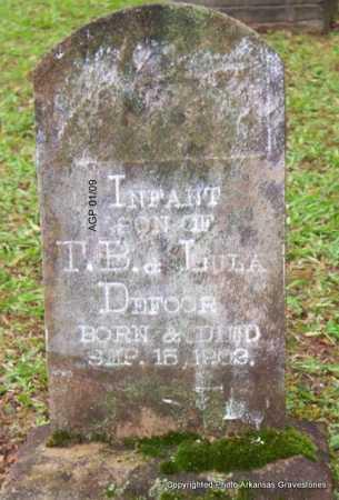 DEFOOR, INFANT SON - Scott County, Arkansas | INFANT SON DEFOOR - Arkansas Gravestone Photos