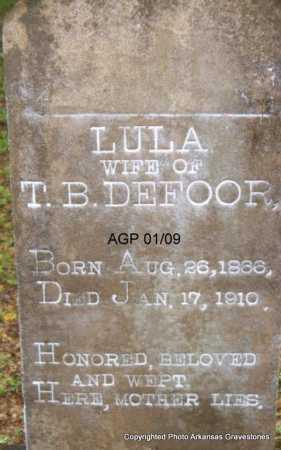DEFOOR, LULA - Scott County, Arkansas   LULA DEFOOR - Arkansas Gravestone Photos