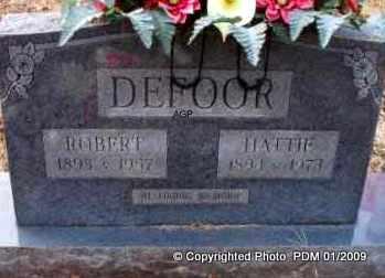 DEFOOR, ROBERT  (2ND STONE) - Scott County, Arkansas | ROBERT  (2ND STONE) DEFOOR - Arkansas Gravestone Photos