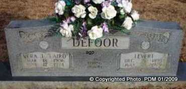 DEFOOR, LEVERT  (2ND STONE) - Scott County, Arkansas | LEVERT  (2ND STONE) DEFOOR - Arkansas Gravestone Photos