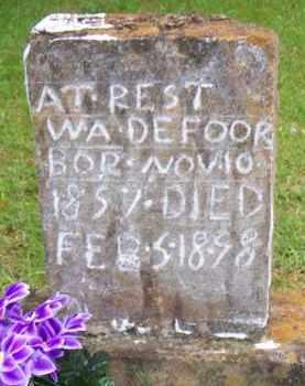 DEFOOR, W A - Scott County, Arkansas   W A DEFOOR - Arkansas Gravestone Photos