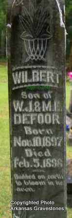 DEFOOR, WILBERT - Scott County, Arkansas | WILBERT DEFOOR - Arkansas Gravestone Photos