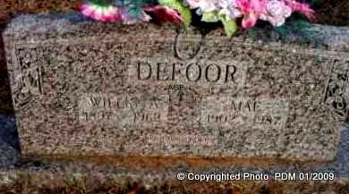 DEFOOR, MAE - Scott County, Arkansas | MAE DEFOOR - Arkansas Gravestone Photos
