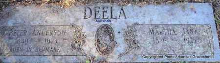 DEELA, PETER ANDERSON - Scott County, Arkansas | PETER ANDERSON DEELA - Arkansas Gravestone Photos