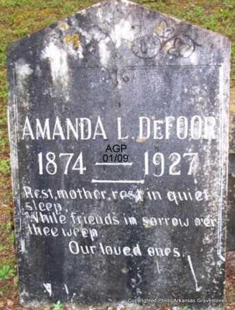 DEFOOR, AMANDA L - Scott County, Arkansas   AMANDA L DEFOOR - Arkansas Gravestone Photos
