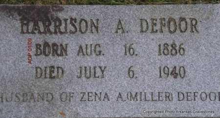 DEFOOR, HARRISON A - Scott County, Arkansas | HARRISON A DEFOOR - Arkansas Gravestone Photos