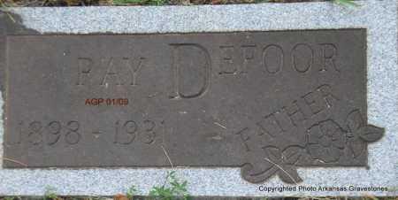 DEFOOR, RAY - Scott County, Arkansas | RAY DEFOOR - Arkansas Gravestone Photos