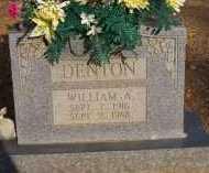DENTON, WILLIAM A - Scott County, Arkansas | WILLIAM A DENTON - Arkansas Gravestone Photos