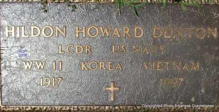 DENTON  (VETERAN 3 WARS), HILDON HOWARD - Scott County, Arkansas   HILDON HOWARD DENTON  (VETERAN 3 WARS) - Arkansas Gravestone Photos