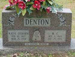 SEHORN DENTON, KATIE - Scott County, Arkansas   KATIE SEHORN DENTON - Arkansas Gravestone Photos