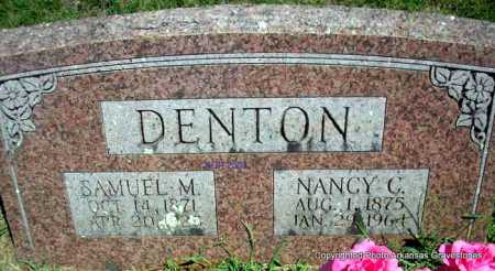DENTON, SAMUEL M - Scott County, Arkansas   SAMUEL M DENTON - Arkansas Gravestone Photos