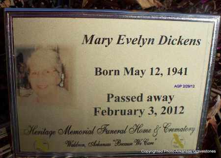 DICKENS, MARY EVELYN - Scott County, Arkansas   MARY EVELYN DICKENS - Arkansas Gravestone Photos