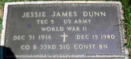 DUNN  (VETERAN WWII), JESSIE JAMES - Scott County, Arkansas   JESSIE JAMES DUNN  (VETERAN WWII) - Arkansas Gravestone Photos