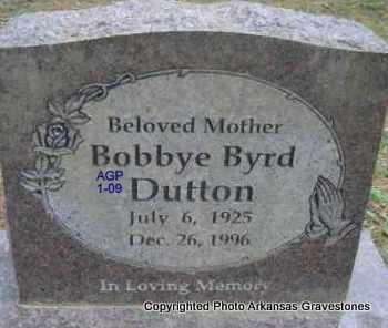 BYRD DUTTON, BOBBYE - Scott County, Arkansas   BOBBYE BYRD DUTTON - Arkansas Gravestone Photos