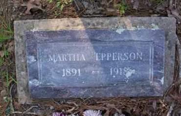 EPPERSON, MARTHA - Scott County, Arkansas | MARTHA EPPERSON - Arkansas Gravestone Photos