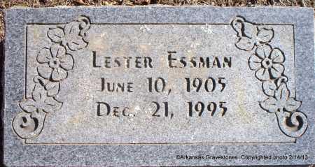 ESSMAN, LESTER - Scott County, Arkansas   LESTER ESSMAN - Arkansas Gravestone Photos