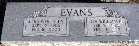 EVANS, WILLIAM R, REV - Scott County, Arkansas | WILLIAM R, REV EVANS - Arkansas Gravestone Photos