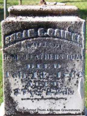 FEATHERSTON, SUSAN E - Scott County, Arkansas | SUSAN E FEATHERSTON - Arkansas Gravestone Photos