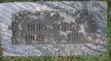 FORGA, BURL - Scott County, Arkansas | BURL FORGA - Arkansas Gravestone Photos
