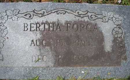 FORGA, BERTHA - Scott County, Arkansas | BERTHA FORGA - Arkansas Gravestone Photos