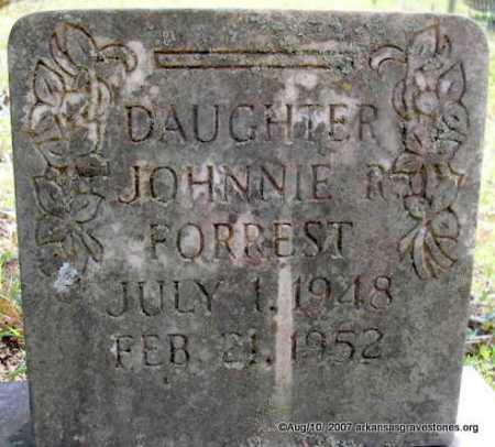FORREST, JOHNNIE R - Scott County, Arkansas | JOHNNIE R FORREST - Arkansas Gravestone Photos