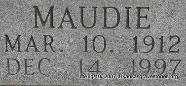 FORREST, MAUDIE  (CLOSEUP) - Scott County, Arkansas | MAUDIE  (CLOSEUP) FORREST - Arkansas Gravestone Photos