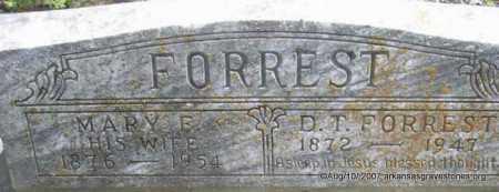 FORREST, MARY F - Scott County, Arkansas | MARY F FORREST - Arkansas Gravestone Photos