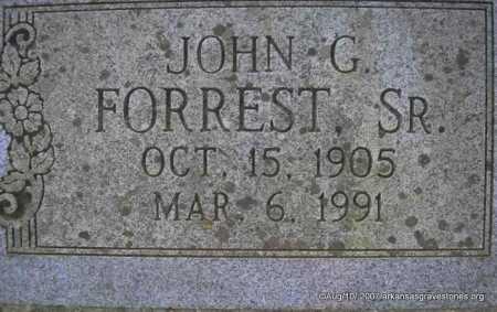 FORREST, SR, JOHN G - Scott County, Arkansas | JOHN G FORREST, SR - Arkansas Gravestone Photos