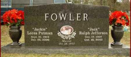 "FOWLER, LOREA ""JACKIE"" - Scott County, Arkansas | LOREA ""JACKIE"" FOWLER - Arkansas Gravestone Photos"