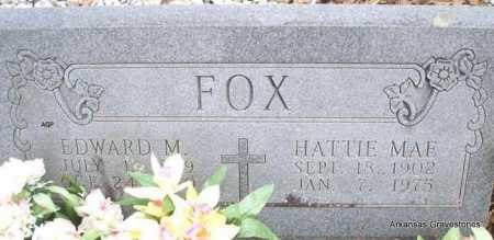 FOX, HATTIE MAE - Scott County, Arkansas | HATTIE MAE FOX - Arkansas Gravestone Photos