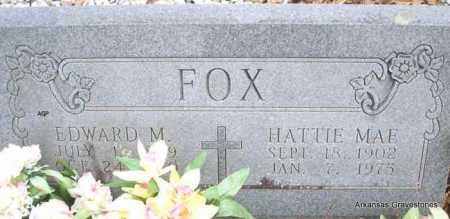 FOX, EDWARD M - Scott County, Arkansas | EDWARD M FOX - Arkansas Gravestone Photos
