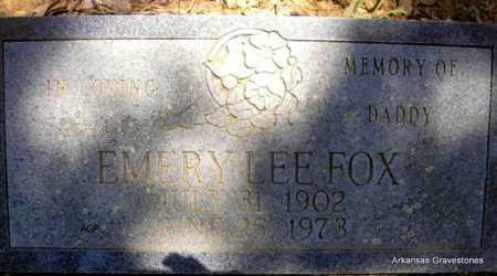 FOX, EMERY LEE - Scott County, Arkansas | EMERY LEE FOX - Arkansas Gravestone Photos