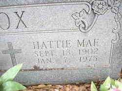 FOX, HATTIE MAE  ( CLOSEUP) - Scott County, Arkansas | HATTIE MAE  ( CLOSEUP) FOX - Arkansas Gravestone Photos