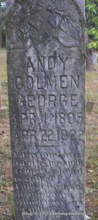 GEORGE, ANDY COLMEN - Scott County, Arkansas | ANDY COLMEN GEORGE - Arkansas Gravestone Photos