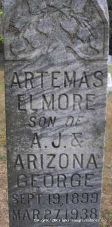 GEORGE, ARTEMAS ELMORE - Scott County, Arkansas | ARTEMAS ELMORE GEORGE - Arkansas Gravestone Photos