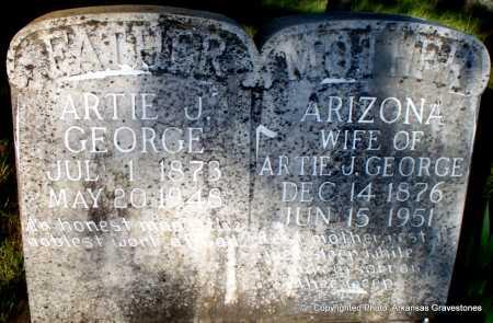 GEORGE, ARIZONA - Scott County, Arkansas | ARIZONA GEORGE - Arkansas Gravestone Photos