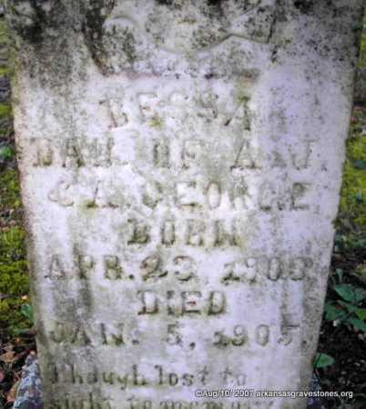 GEORGE, BESSA - Scott County, Arkansas   BESSA GEORGE - Arkansas Gravestone Photos