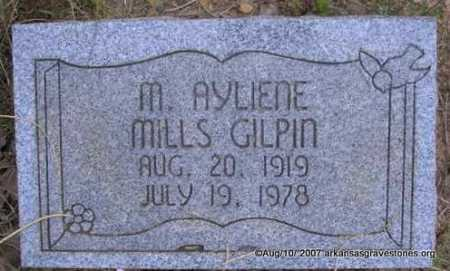 GILPIN, M  AYLIENE - Scott County, Arkansas   M  AYLIENE GILPIN - Arkansas Gravestone Photos