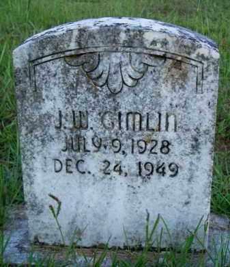 GIMLIN, J  W - Scott County, Arkansas   J  W GIMLIN - Arkansas Gravestone Photos