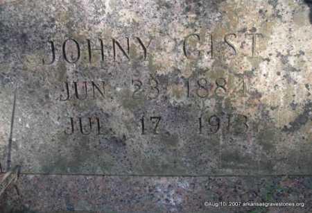 GIST, JOHNY - Scott County, Arkansas | JOHNY GIST - Arkansas Gravestone Photos