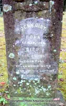 GIST, JOHN - Scott County, Arkansas | JOHN GIST - Arkansas Gravestone Photos